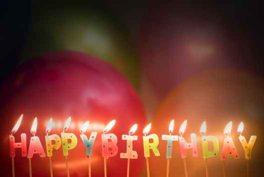 lighted happy birthday candles